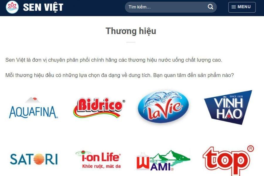 Đại lý nước Sen Việt water